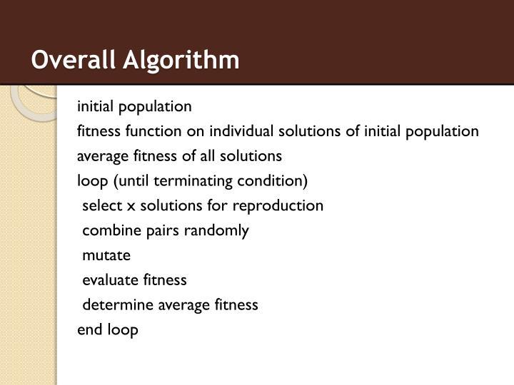 Overall Algorithm