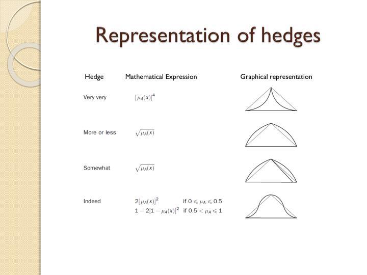 Representation of hedges