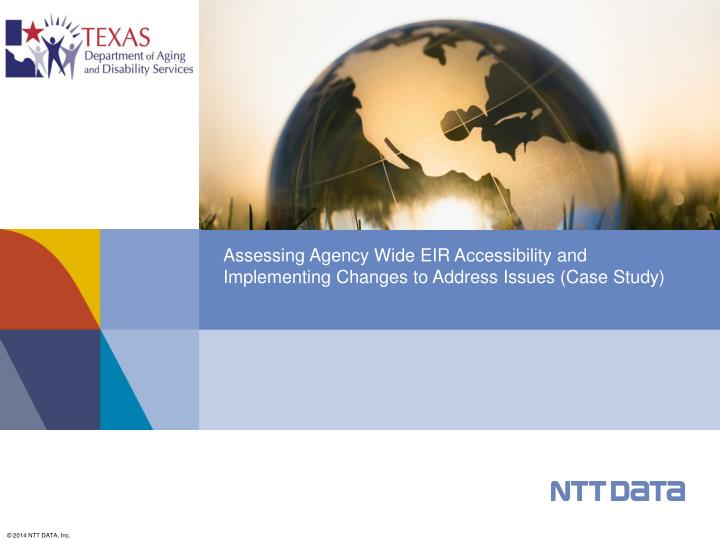 assessing agency wide eir accessibility and implementing changes to address issues case study n.