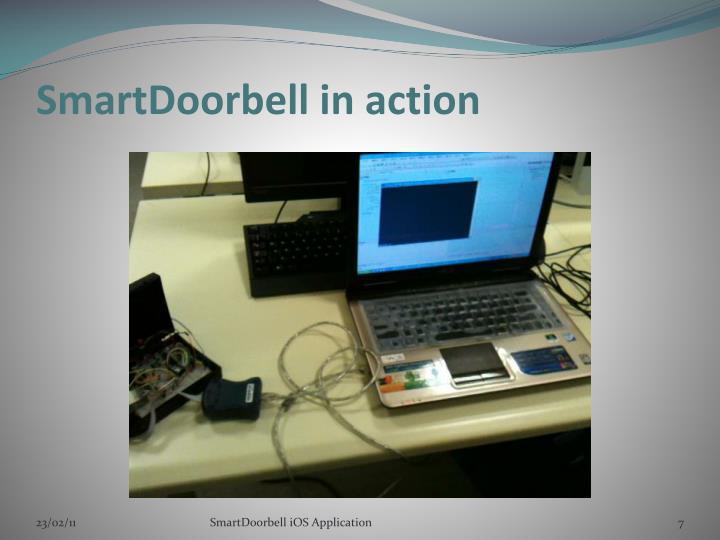 SmartDoorbell in action