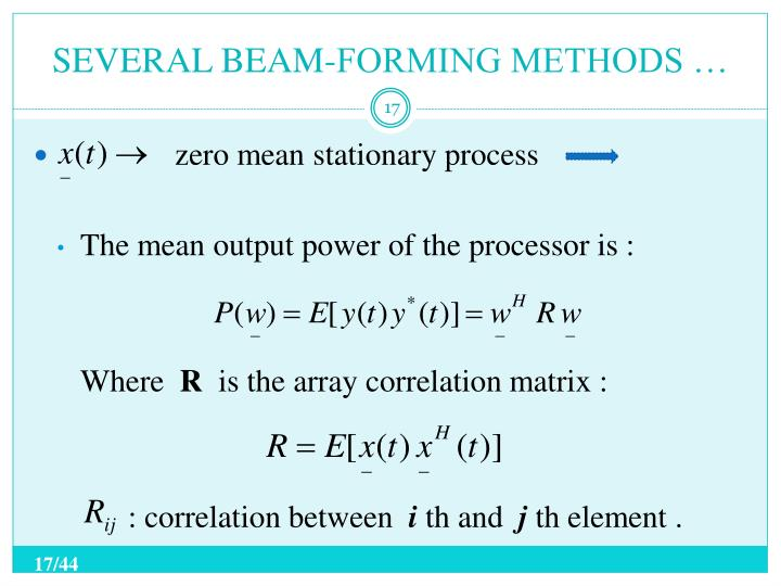 SEVERAL BEAM-FORMING METHODS …