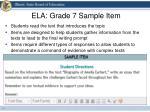 ela grade 7 sample item