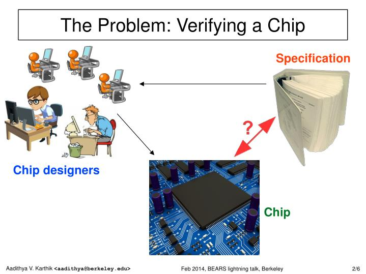 The problem verifying a chip