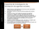 esquema de investigaci n de simulaci n de agentes sociales