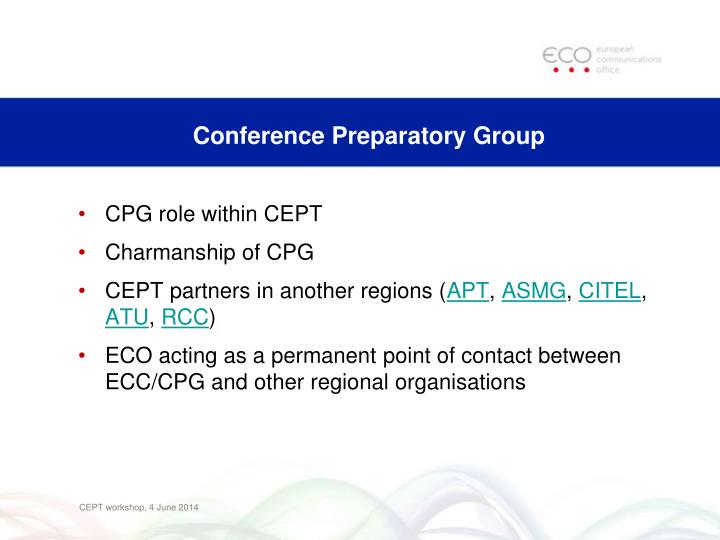 Conference Preparatory Group
