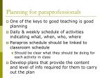 planning for paraprofessionals