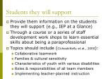 students they will support