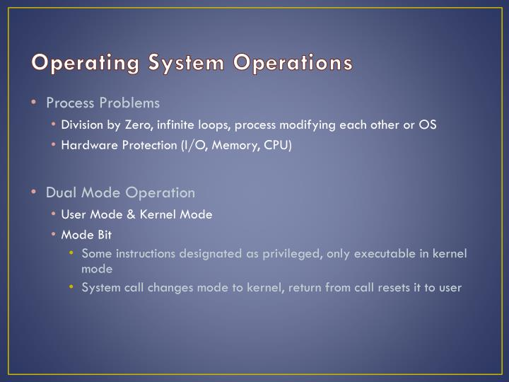 Operating System Operations