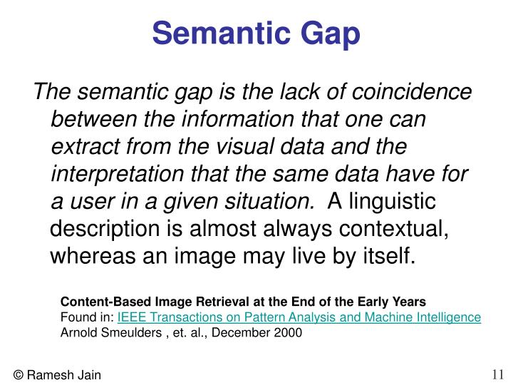 Semantic Gap