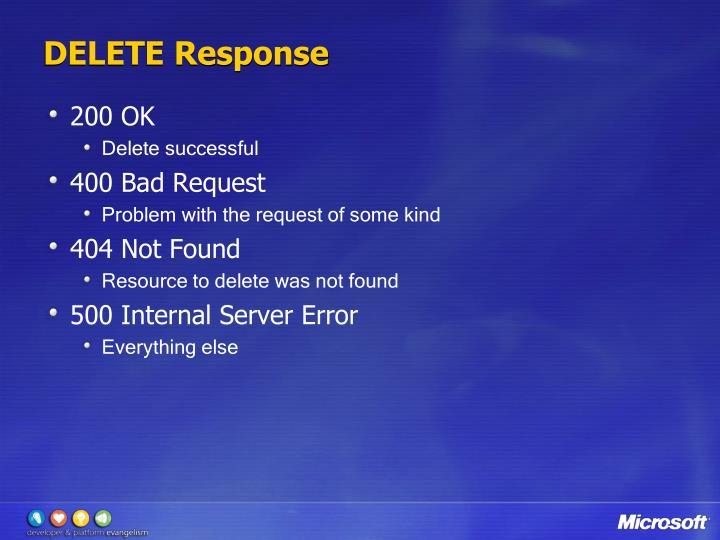 DELETE Response
