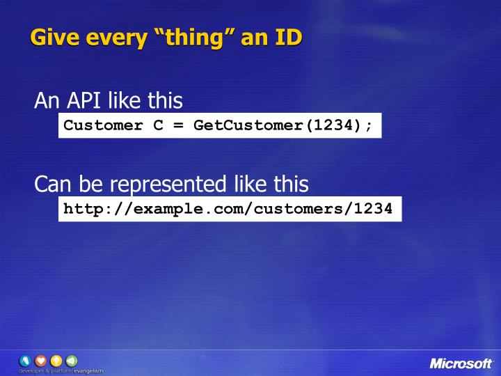 """Give every """"thing"""" an ID"""
