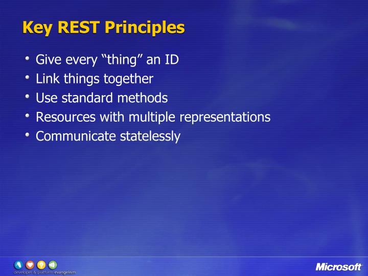 Key REST Principles