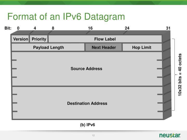 Format of an IPv6 Datagram