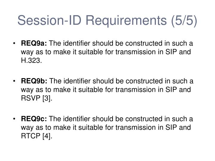 Session-ID Requirements (5/5)