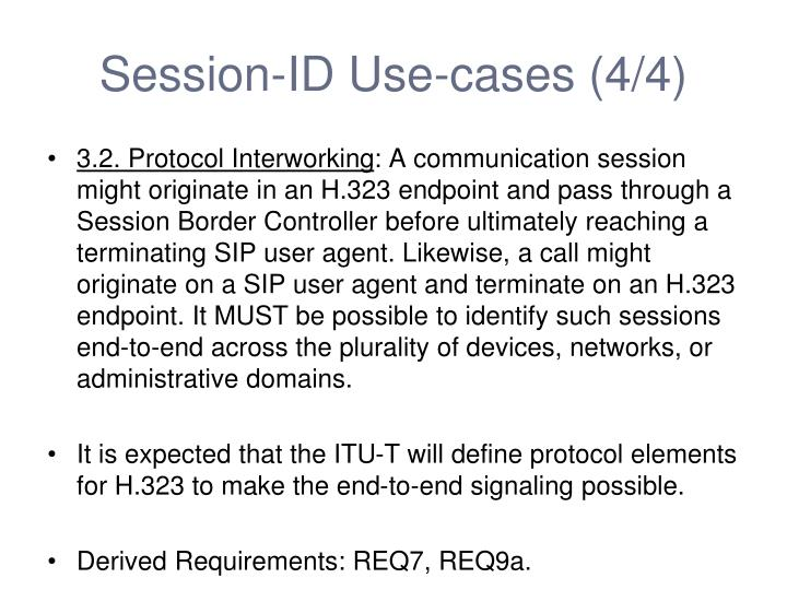 Session-ID Use-cases (4/4)