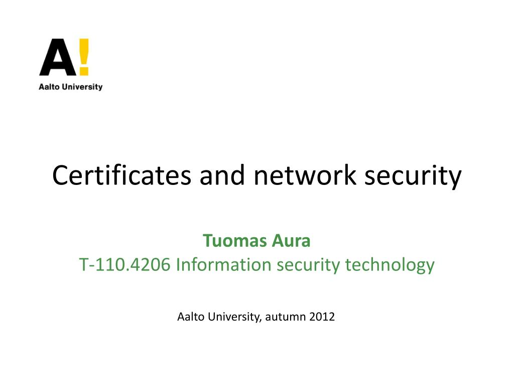 ppt certificates and network security powerpoint presentation id