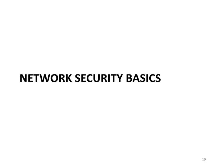 Network security basics