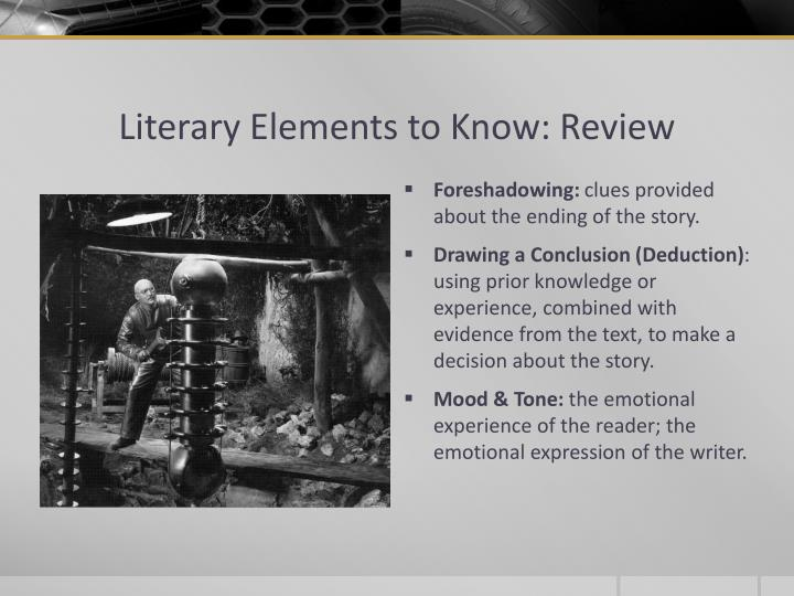 Literary Elements to Know: Review