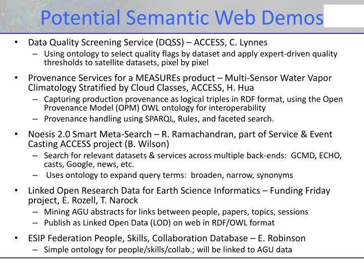 Potential Semantic