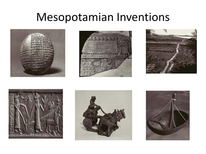 mesopotamian inventions n.
