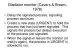 gladiator monitor cavers brown 1978