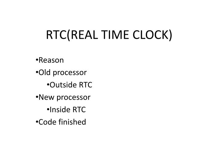rtc real time clock n.