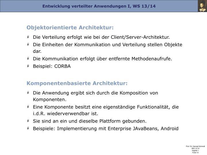Objektorientierte Architektur: