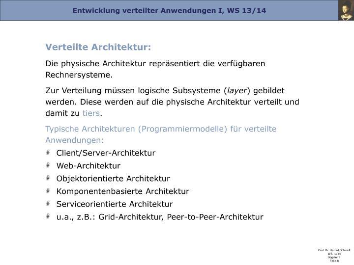 Verteilte Architektur: