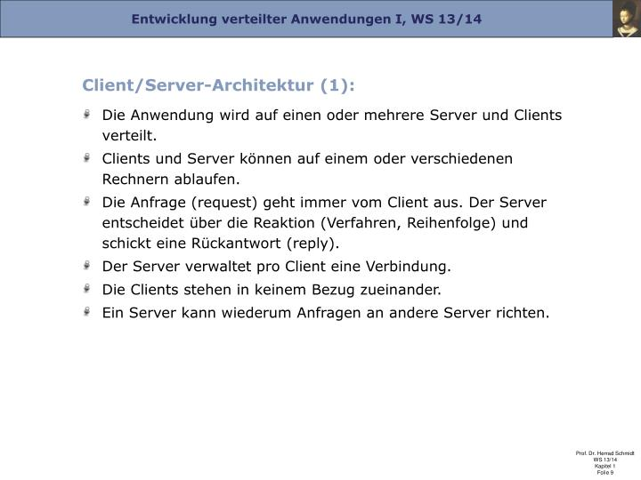 Client/Server-Architektur (1):
