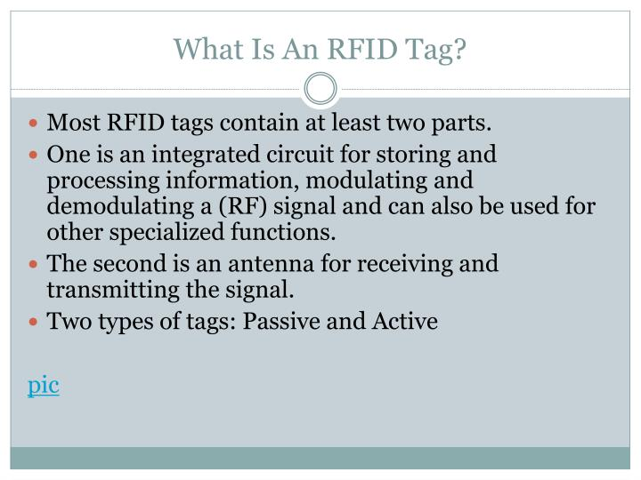 medical rfid tagging what is and Radio frequency identification (rfid) technology uses radio waves to identify people or objects there is a device that reads information contained in a wireless device or tag from a distance without making any physical contact or requiring a line of sight.