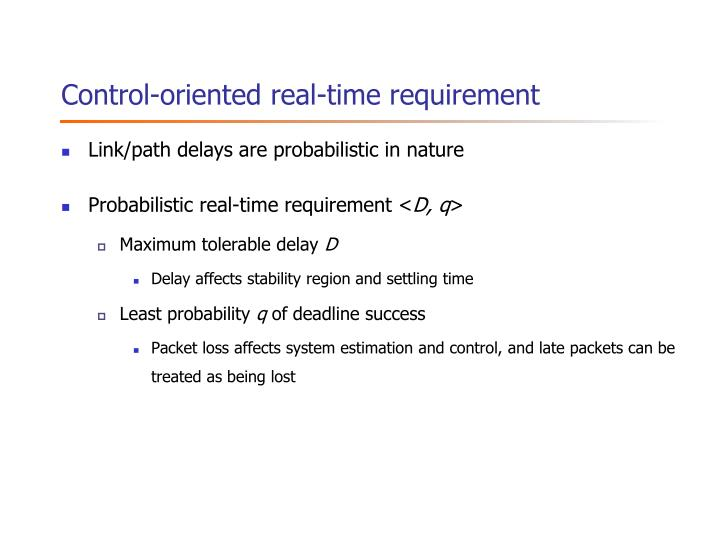 Control-oriented real-time requirement