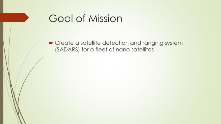Goal of mission