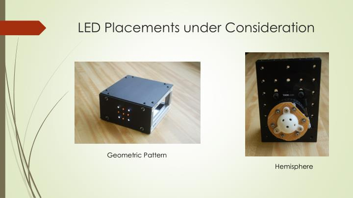 LED Placements under Consideration