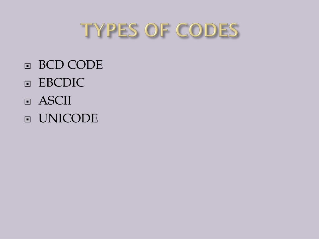 PPT - COMPUTER CODES PowerPoint Presentation - ID:2386788