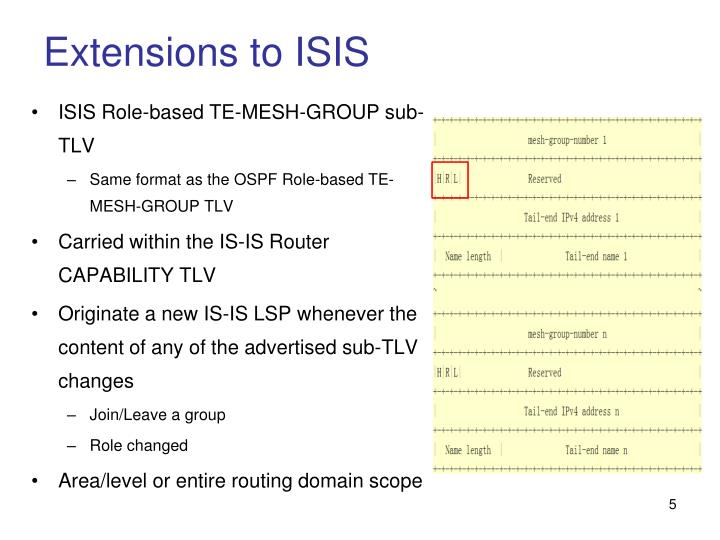 Extensions to ISIS