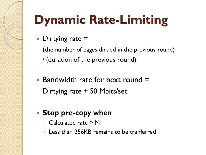 Dynamic Rate-Limiting
