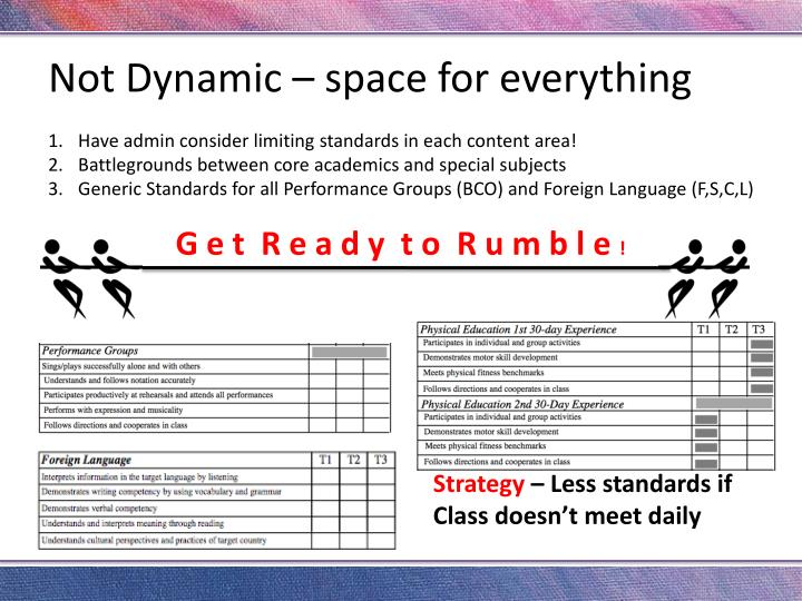 Not Dynamic – space for everything