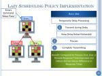 lazy scheduling policy implementation