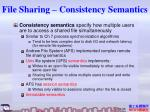 file sharing consistency semantics