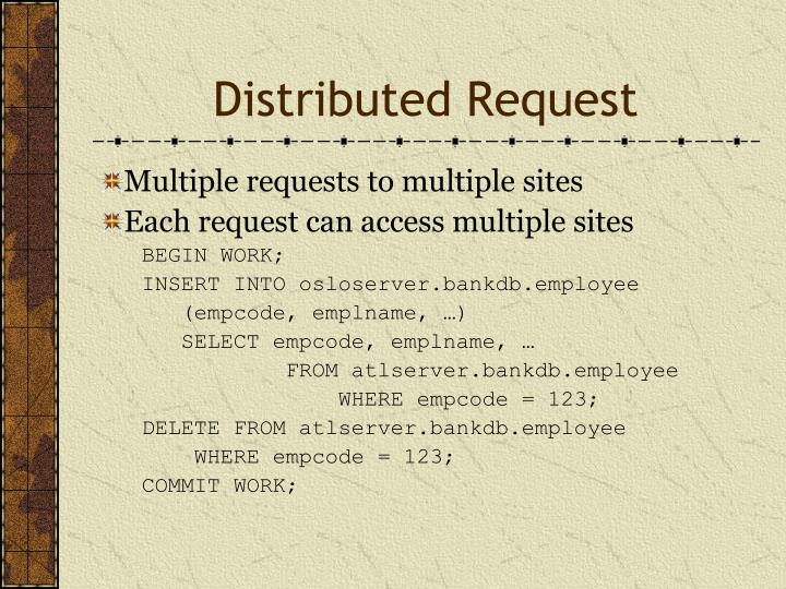 Distributed Request
