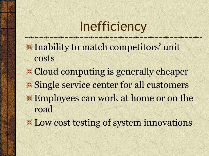 Inefficiency