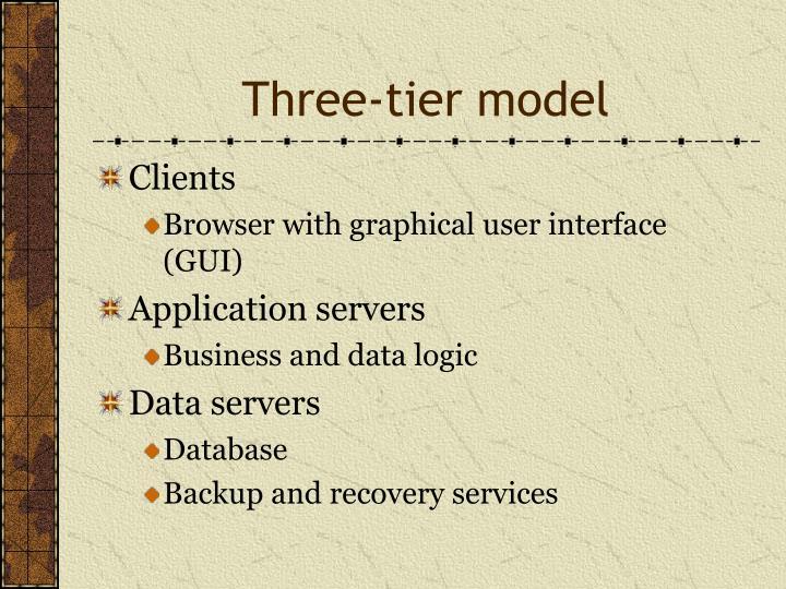 Three-tier model