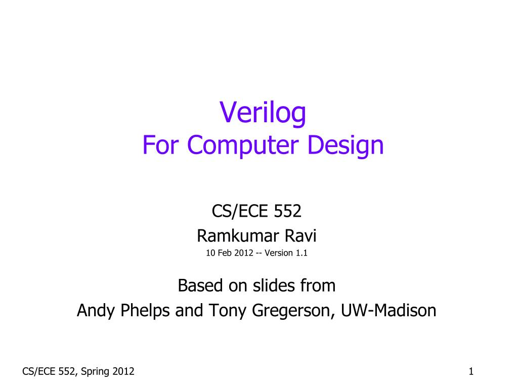 Ppt Verilog For Computer Design Powerpoint Presentation Id2387142 Tutorial As Well Xor Gate Symbol On Schematic N