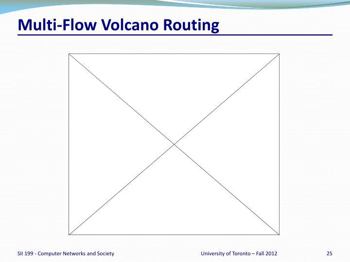 Multi-Flow Volcano Routing