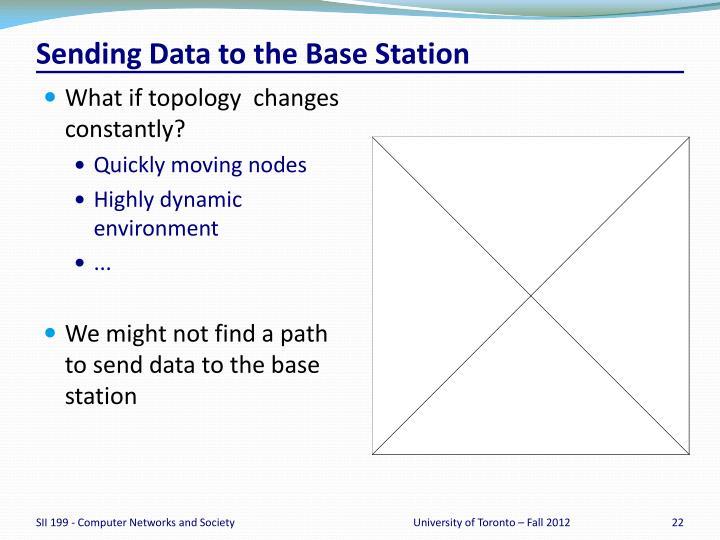 Sending Data to the Base Station