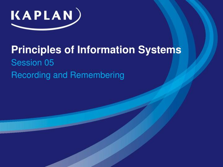 principles of information systems n.