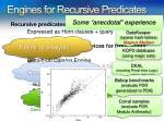 engines for recursive predicates1