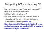 computing lca matrix using dp1
