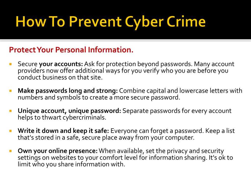 PPT - Cyber Crime PowerPoint Presentation - ID:2387393