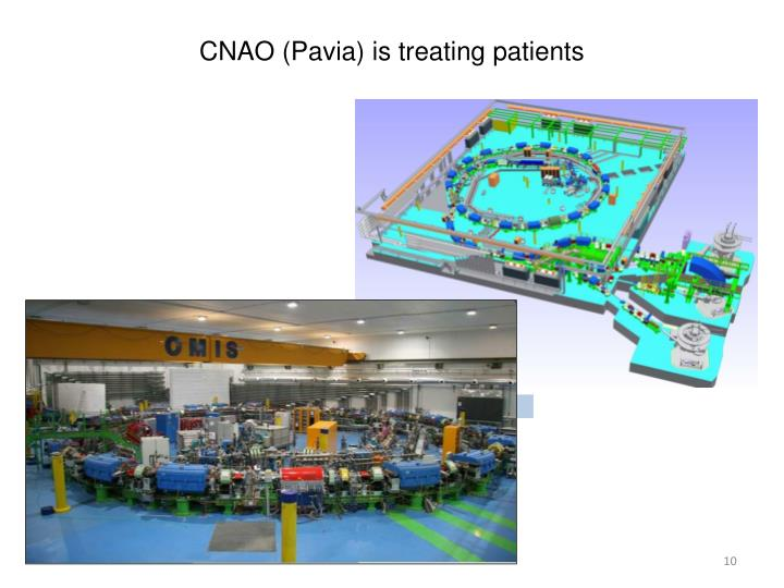 CNAO (Pavia) is treating patients